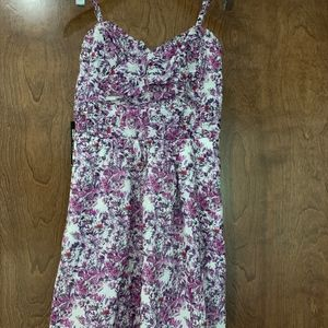 Express Purple and White Floral Dress NWT 0